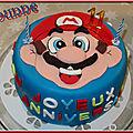 Gâteau damier mario bros