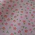 Tissu ancien , cotonnade petites fleurs