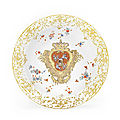 Some of <b>the</b> greatest royal dinner services ever to grace a table head Bonhams sale of European ceramics