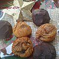 Des figues sèches farcies aux amandes, ou enrobées de chocolat