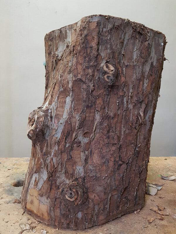 Le Pilier, Noyer, 40cm, 2018 brut