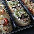 Trio de pizza