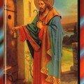 Icône du Christ frappant à la porte