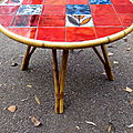 Table basse rotin roger capron