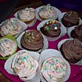 Cup cake chocolat et framboise