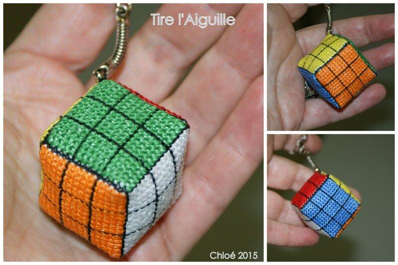 2015-02 - Rubik's cube porte clé - Chloé