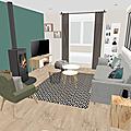 Projet client: <b>ambiance</b> nordique dans une pièce à vivre