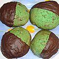 Cookies menthe et chocolat noir