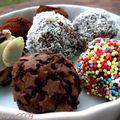 Truffes en chocolat fantaisies