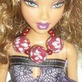 Barbie + collier mosaique red