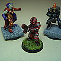 Blood bowl : peinture de 3 starplayers de chez willy