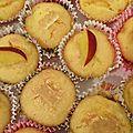 Muffins pêches, abricots à la poudre d'amande.