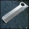 <b>Peigne</b> inox Chicago Comb The Classic - Gravure Made in USA - Le Comptoir Américain