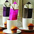 Origami en pliages de serviettes
