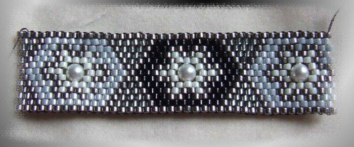 brac peyote inclusion noir gris