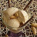 Glace au beurre de cacahuètes & sirop d'agave