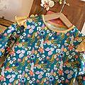 Bla blomma version cocoon dress