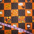 Tissu Hello Kitty Halloween pour robe pin Up, jupe circle, chemise, bustier...