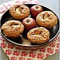 Muffins pomme-gingembre à la farine d'avoine