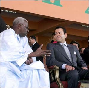 HRH prince Moulay Rachid presides over the opening ceremony of the IAAF World Junior Athletics Championships in Marrakech, July 13, 2005.