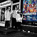 1522 le carnaval à dunkerque ,le matin en noir et blanc