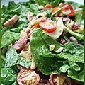 Salade hivernale d'épinards aux lardons