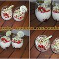 Verrines tomates concombres