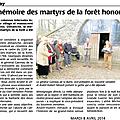 En mémoire des martyrs de la forêt de vezins
