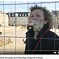 Caen, place de la <b>République</b> ce 23 février 2021: les tilleuls tronçonnés en catimini dans la matinée