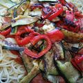 Spaghettis aux légumes grillés