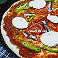 PIZZA <b>ITALIENNE</b> A LA SEMOULE MOZZARELLA BASILIC A LA PLANCHA
