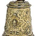 A Rare Augsburg vermeil <b>tankard</b> with
