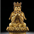 A superbly cast gilt-bronze figure of Avalokiteshvara, Ming Dynasty, <b>16th</b> <b>century</b>