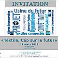 Invitation à la cérémonie du prix international théophile legrand de l'innovation textile au service de l'industrie
