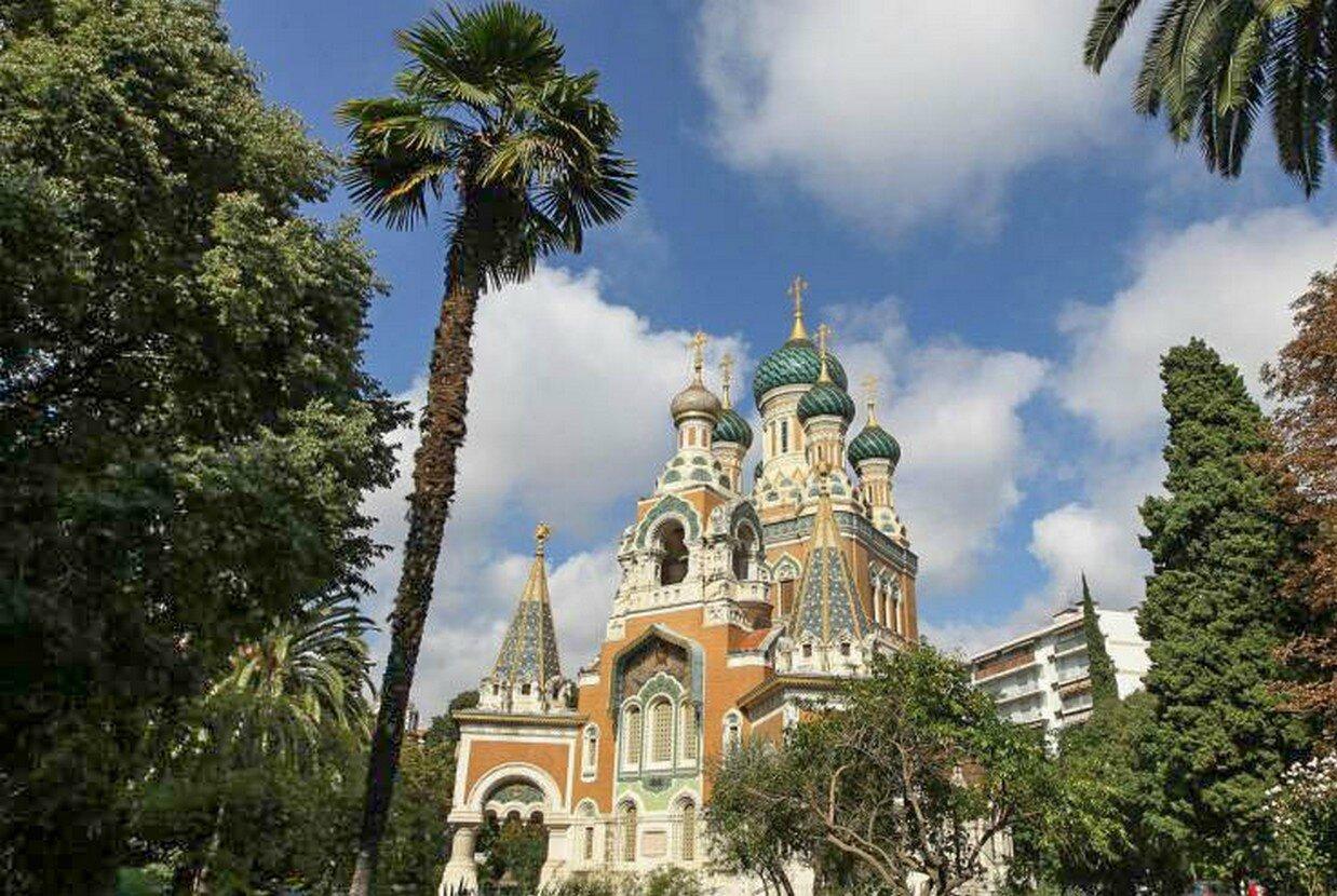 Cathédrale orthodoxe russe, de Saint Nicolas, à Nice.