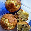 Muffins pommes, noix et pépites de chocolat