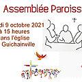 <b>Assemblée</b> paroissiale samedi 9 octobre 2021