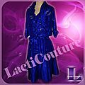<b>Robe</b> cocktail en taffetas bleu