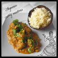 <b>Agneau</b> au curry madras...