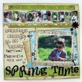 page spring time esprit scrapbooking