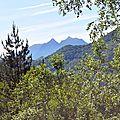 Derrière Boesou, le Bergon et la Marrère.
