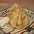 Aumônières aux pommes caramélisées