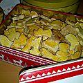 Les schwobebredle ou petits gâteaux de noël aux amandes