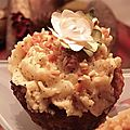 Cupcakes Pralin et chocolat noir et sa crème Moka !