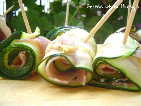 Légumes roulés pour apéro gourmand
