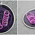 Pendentif rose et violet