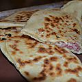 Naans bacon fromage