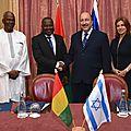 Guinée-israêl : les deux pays signent un accord de renouvellement de leurs relations diplomatisues