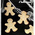 Petits biscuits d'halloween