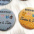 Magnets pour annoncer sa grossesse ( à personnaliser)
